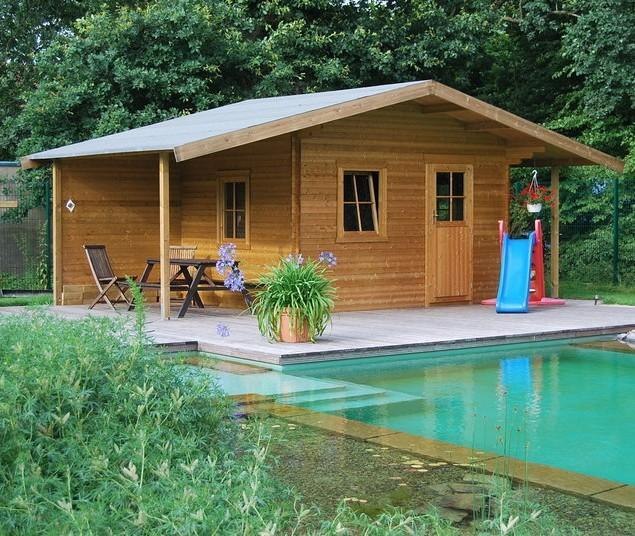 Mountain garden shed - with pool