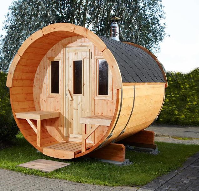 Round garden shed - made of wood