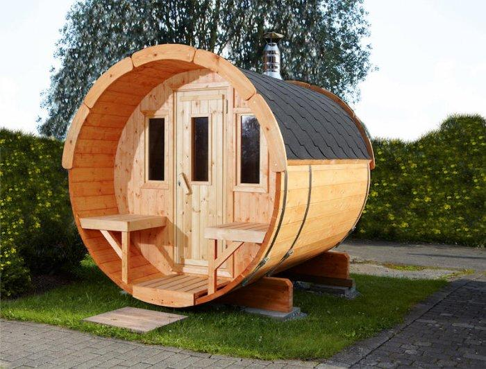 round garden shed made of wood founterior. Black Bedroom Furniture Sets. Home Design Ideas