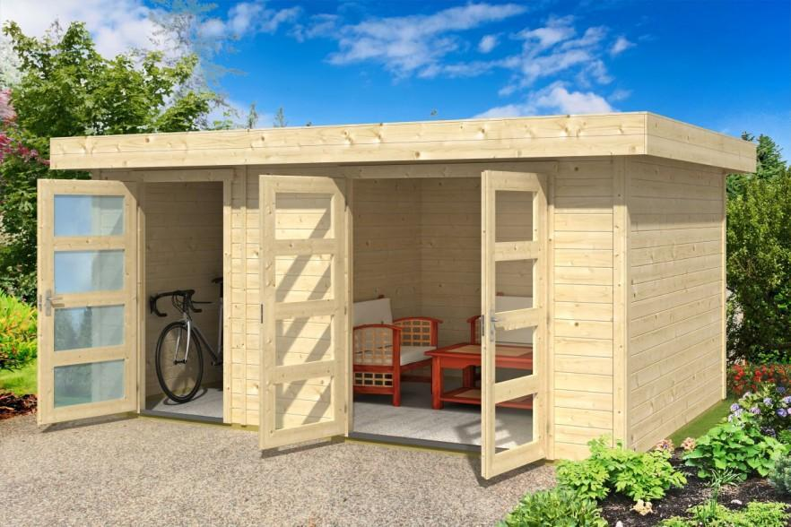 Simple garden shed - with garage