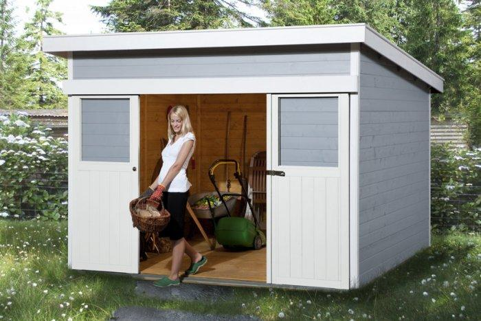 Small Garden Shed With Woman Founterior
