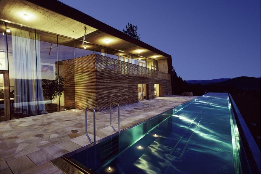 Swimming pool at night - on the front deck
