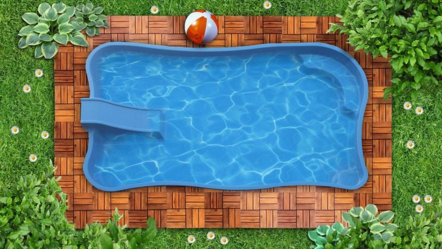 Swimming pool for kids - with slide
