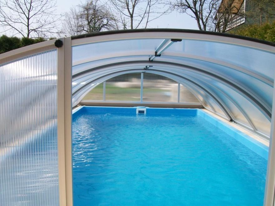Swimming pool with roof - to protect from rain