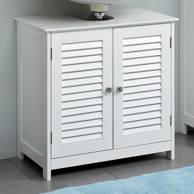 White bathroom vanity - with traditional design