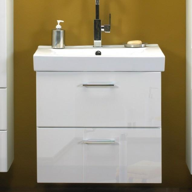 White bathroom vanity - with two drawers
