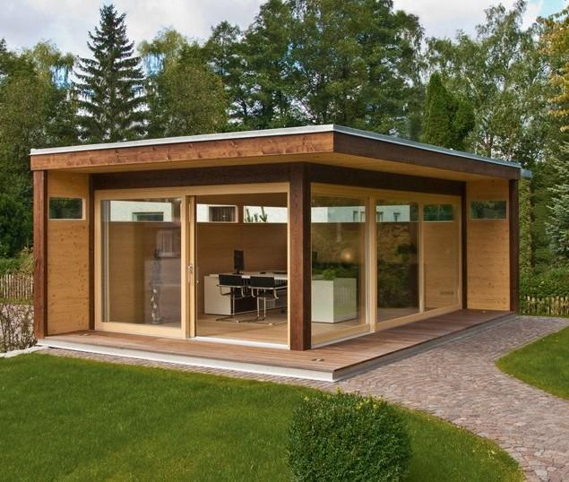 Wooden garden shed - modern design