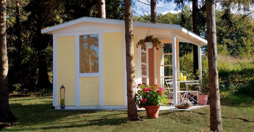 Yellow garden shed - for the backyard