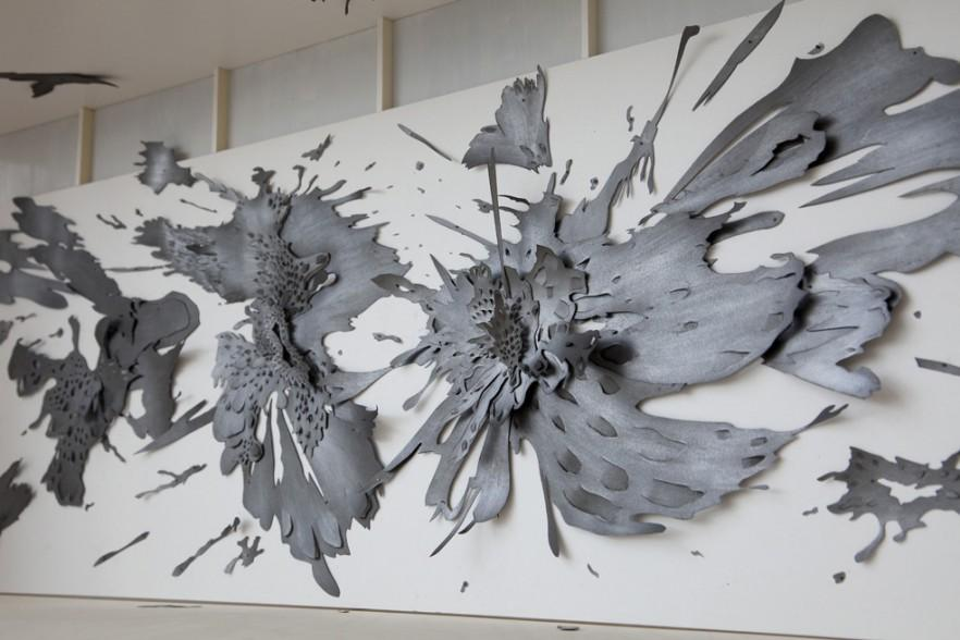 Abstract contemporary wall art - splashes