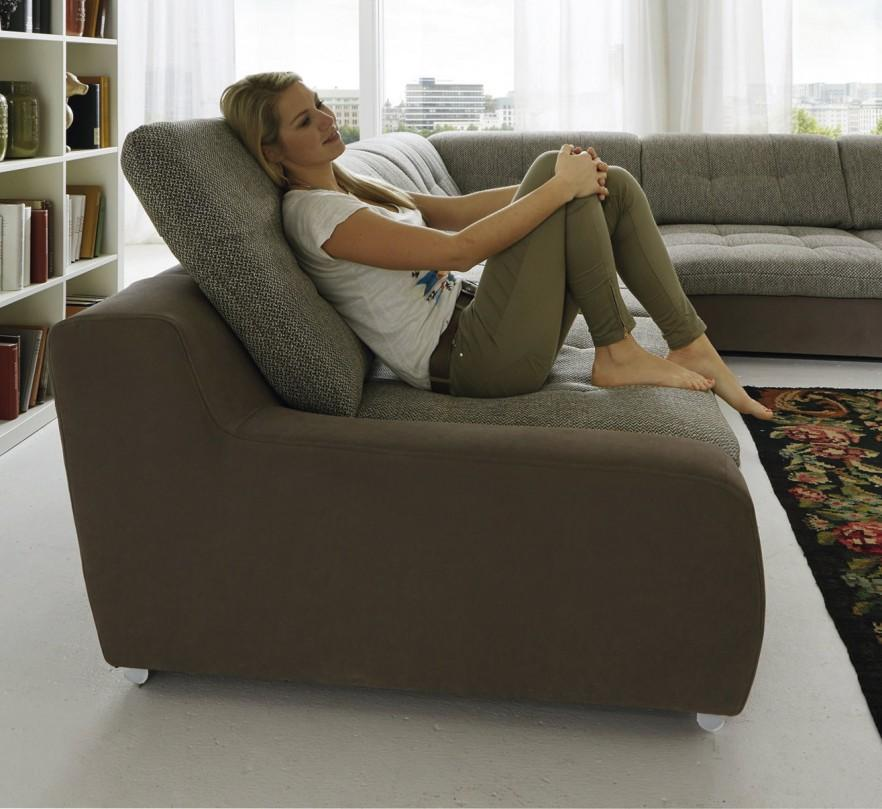 Adjustable corner sofa - in living room
