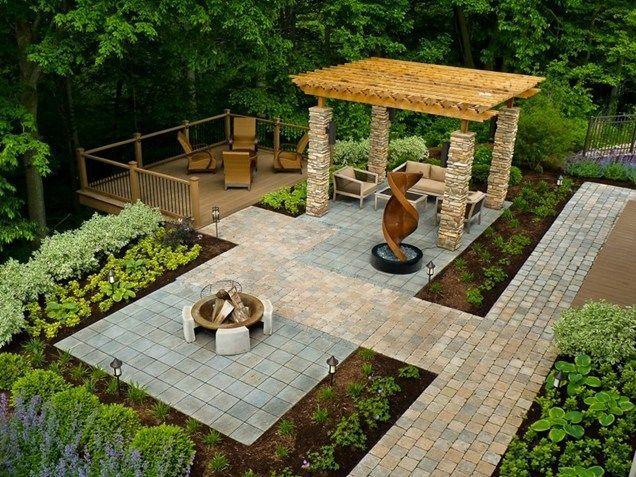 Backyard Design with Pergola