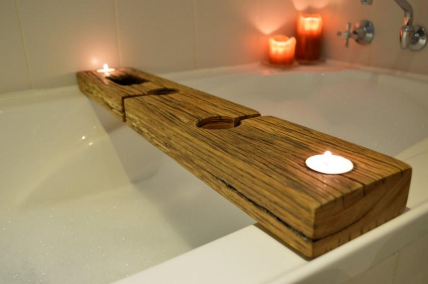 Creative Rustic Bath Caddy 10