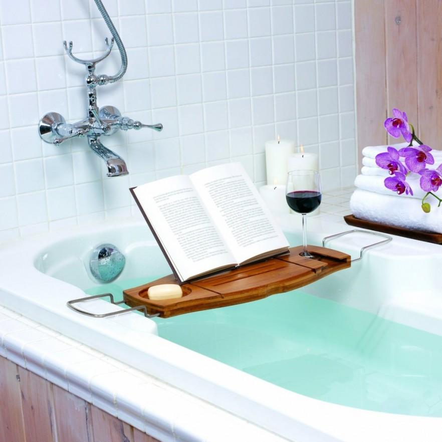 Bath Tray with place for book