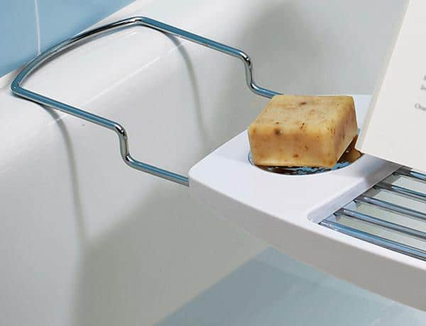 White Bathroom Caddy 17