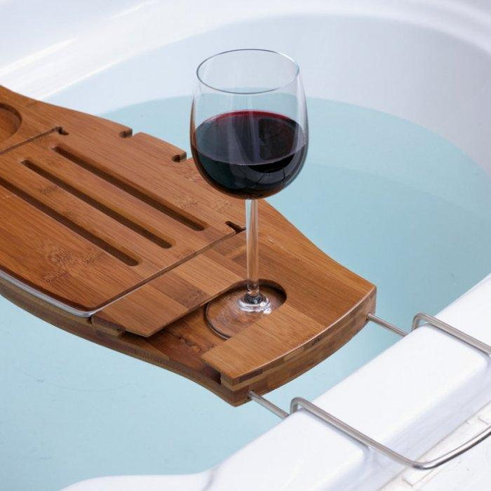 Bath Caddy with place for glass