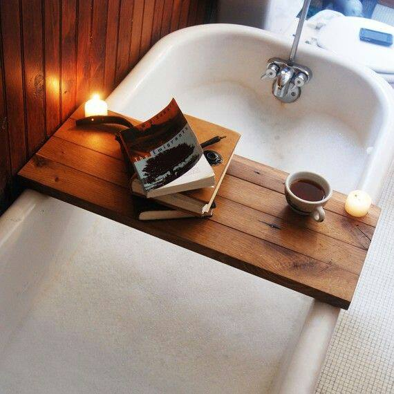 Vintage Bath Caddy With Candles ...