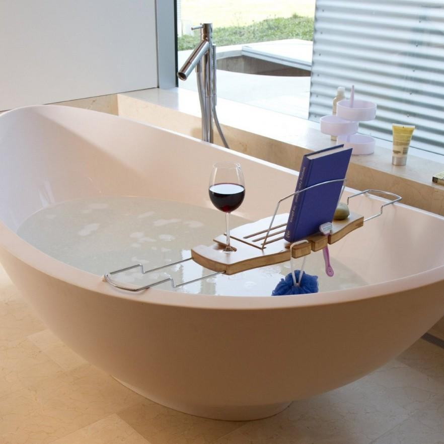 Modern Bath Caddy made of wood
