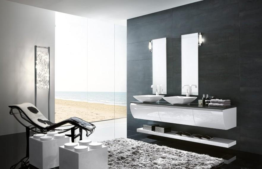 Bathroom suite with modern design