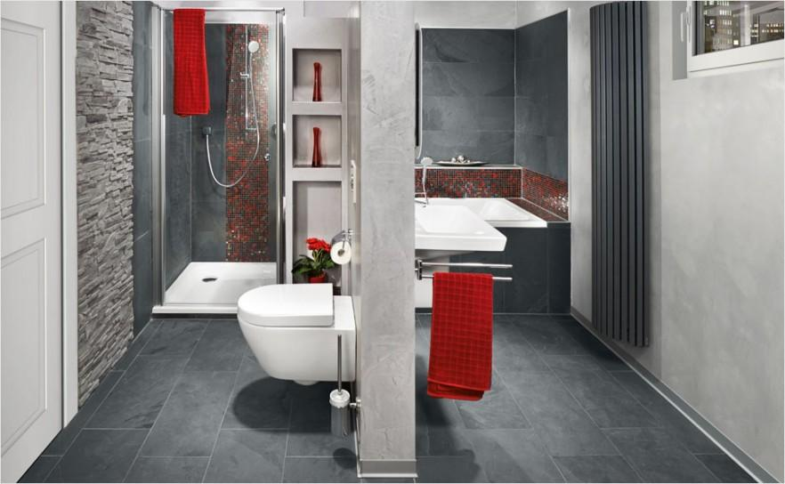 Creative modern Bathroom with two zones