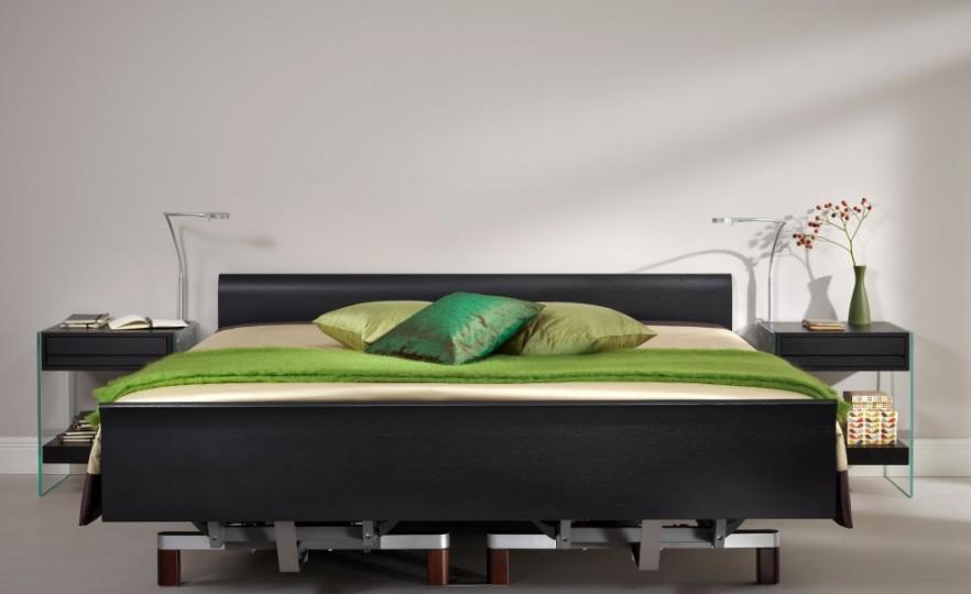Black adjustable bed - for two