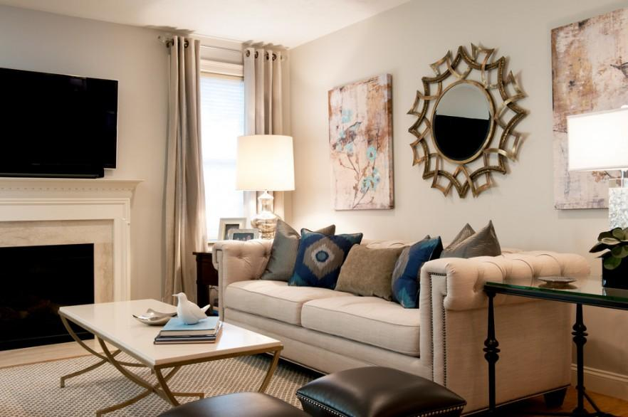 Floral Canvas prints in ecletic living room