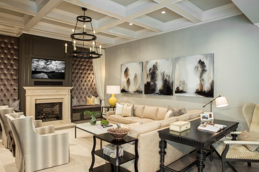 Eclectic Room with abstract wall canvas