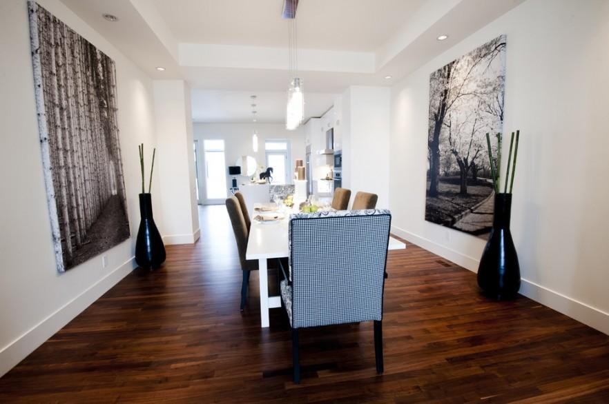 Large Canvas print in dining room