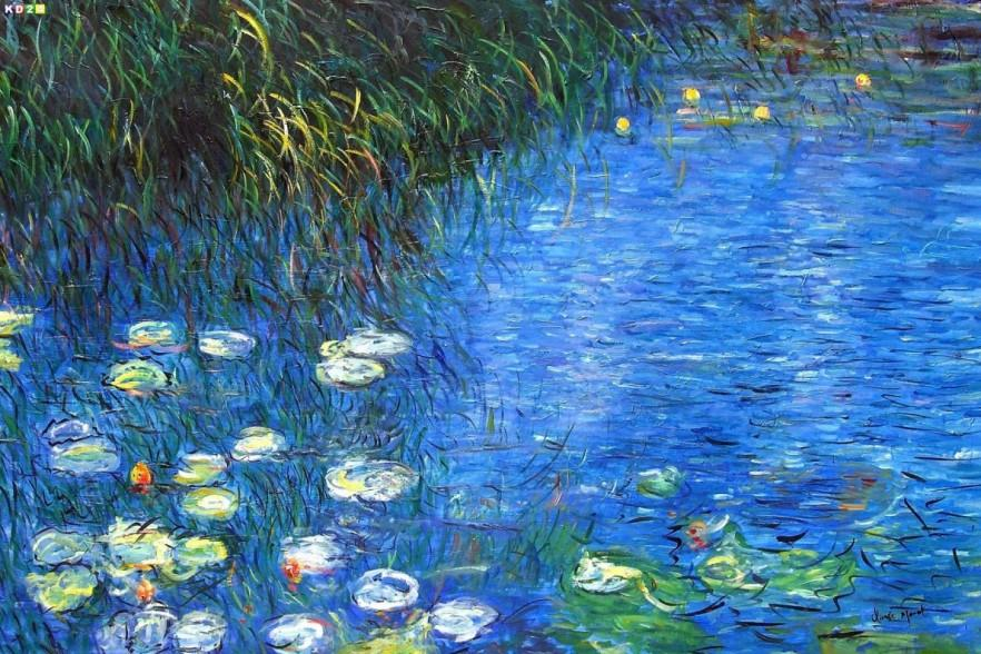 Claude Monet - Water lily and reed