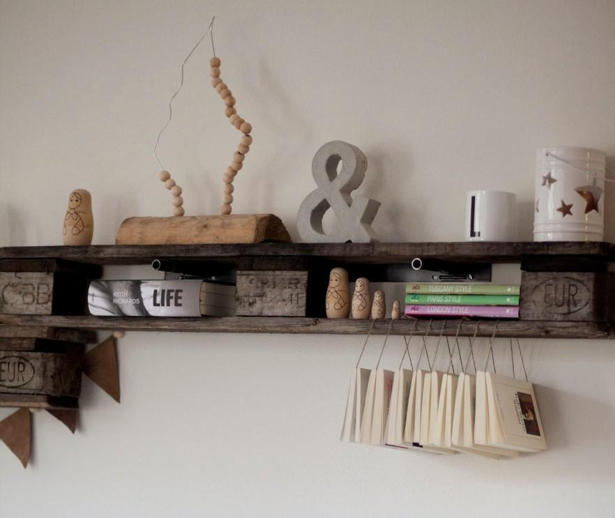 Crafted pallet shelf - for decorations
