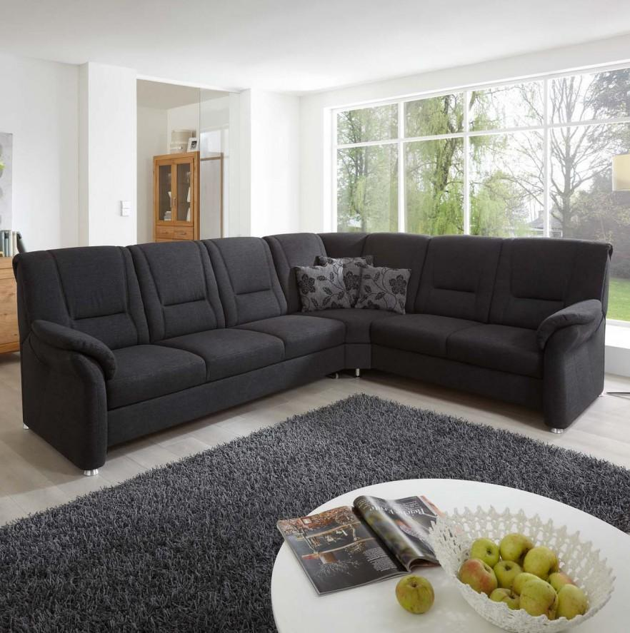 Dark Corner Sofa   In Large Living Room