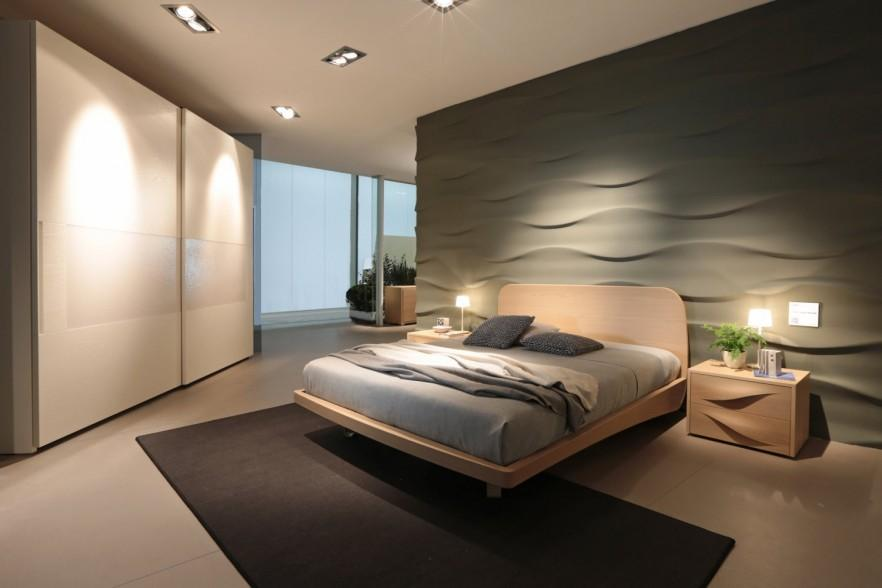 Dark fitter bedroom - with modern furniture