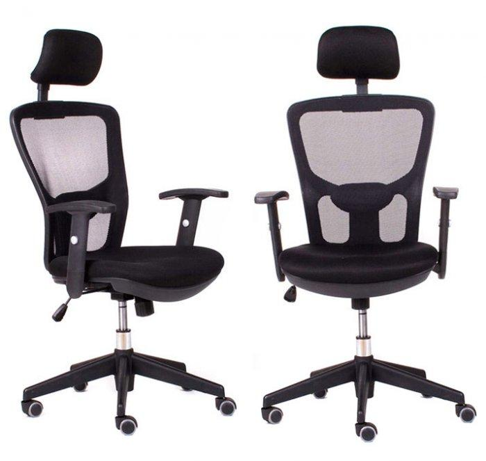Two office chairs with high back