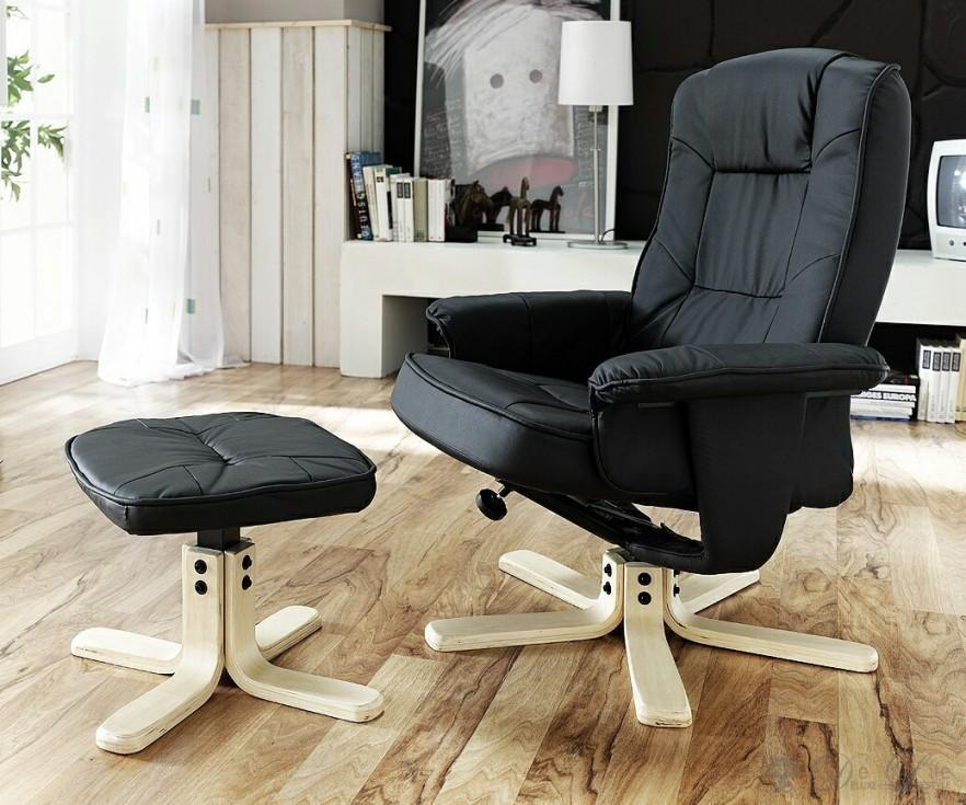 Large office chair with stool