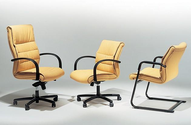 Yellow office chairs