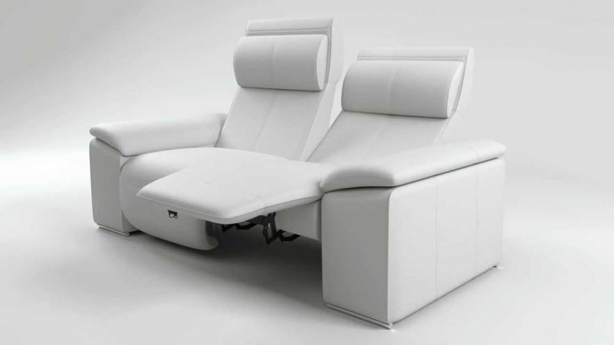 Home theater lounge in white