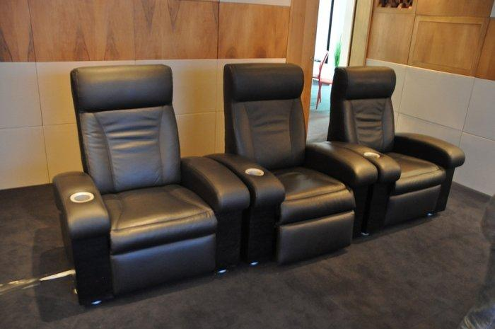 Black Home theater seating