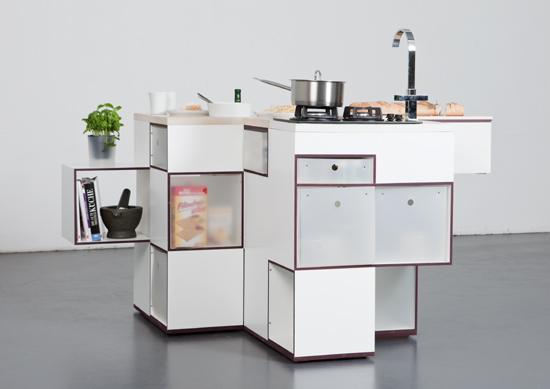 White modular kitchen