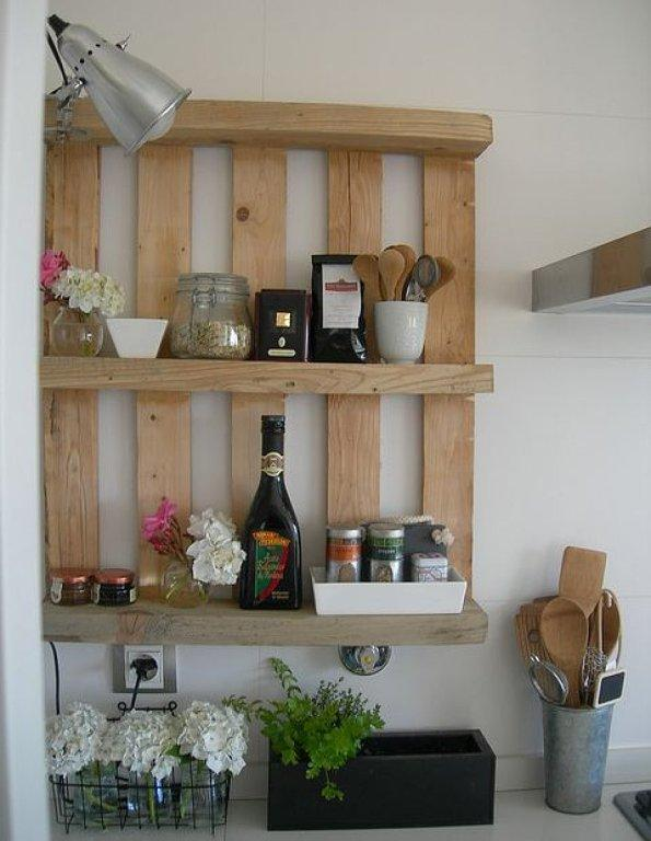 Kitchen pallet shelf - for spices