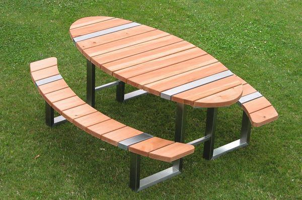 Large picnic table - with benches
