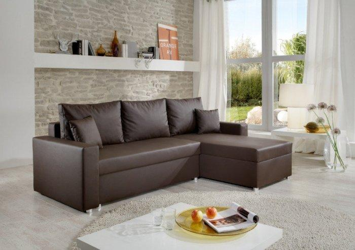 Leather corner sofa - for living room