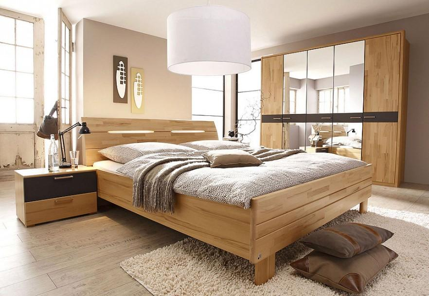 Master bedroom with wooden bed