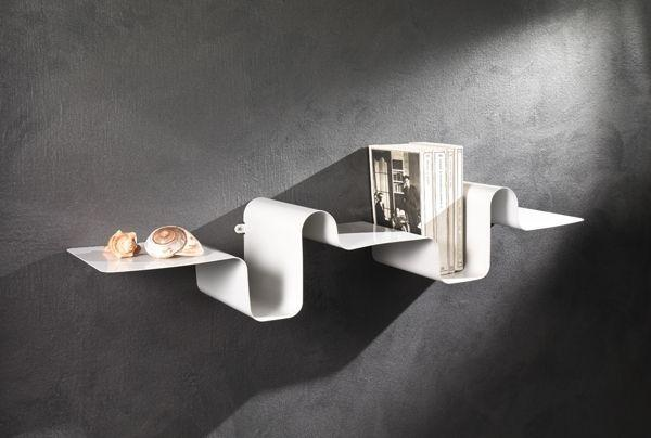 Metal contemporary wall art - a book shelf