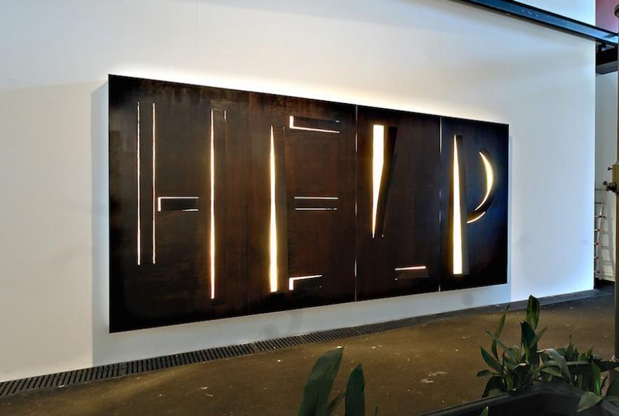 Metal contemporary wall art - a wall installation