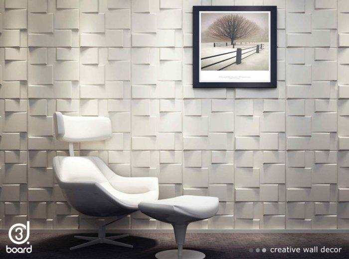 Minimalist contemporary wall art - wall with releef