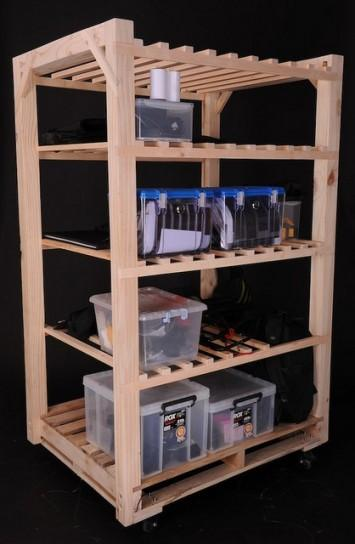 Mobile pallet shelf - a beverages cart