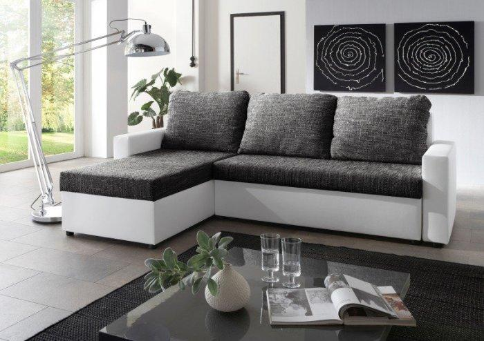Modern corner sofa - with dark top
