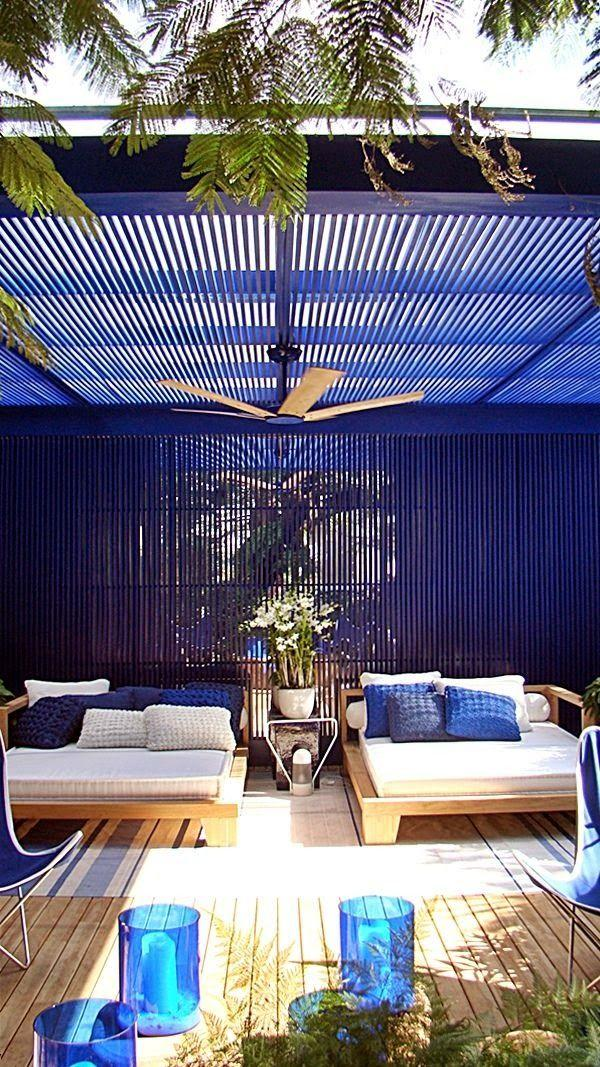 Patio ceiling fan and comfortable furniture