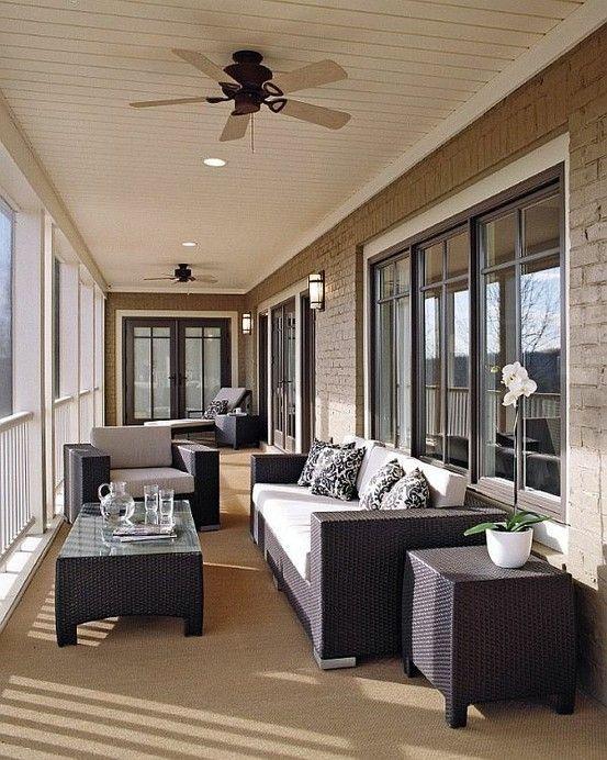 Ceiling fan in the front veranda