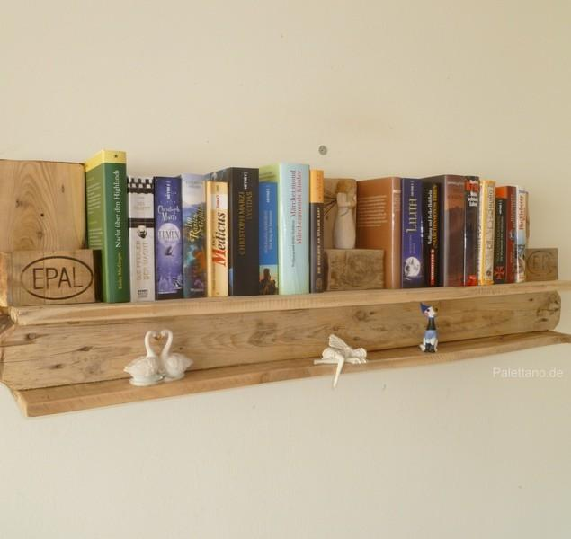 Pallet book shelf - for wall
