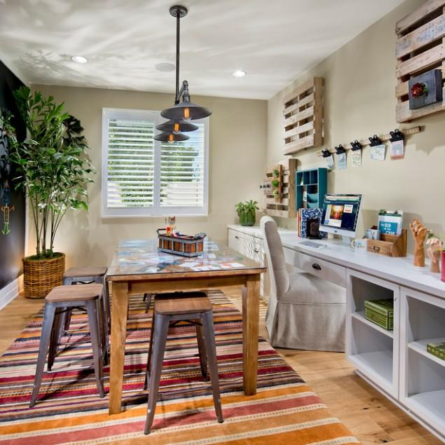 Pallet Shelves for Living Rooms and Entryways